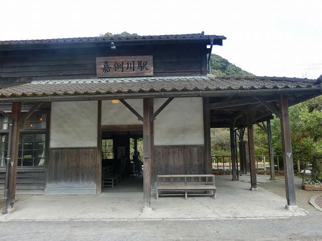 鹿児島県で一番古い木造駅舎の嘉例川駅です。