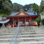 知覧に鎮座する豊玉姫神社の水からくりと御朱印。