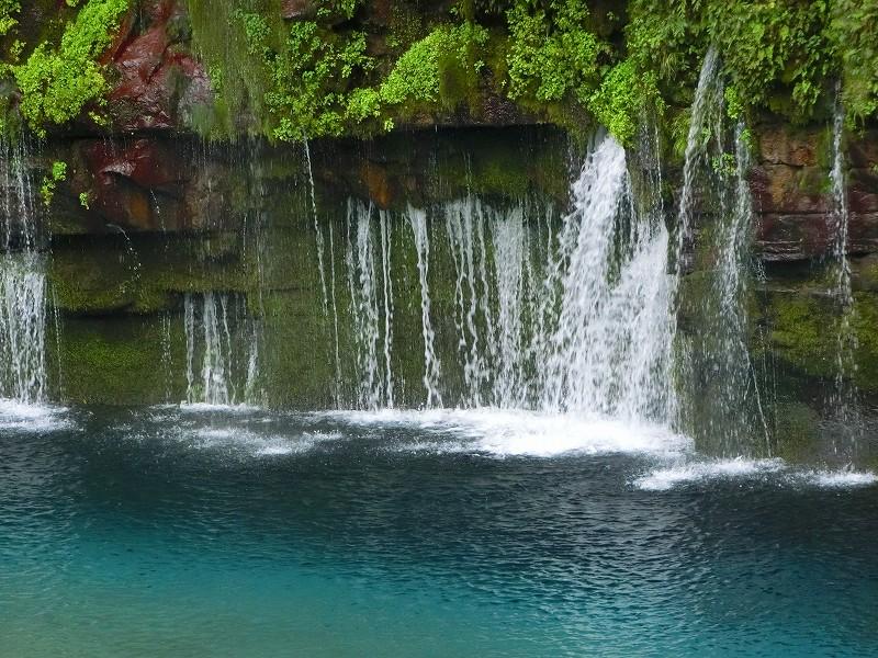 神秘的な雄川の滝に行きました。