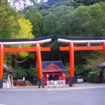 珍しい並列鳥居の川南諏訪神社で御朱印を頂く。