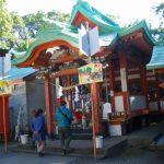 巨樹の森が群生する指宿神社で御朱印を頂く。