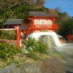龍宮神社は「竜宮伝説」がある長崎鼻に鎮座する縁結びのパワースポット。
