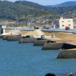 長崎堤防は川内川河口の水田を守った鋸の刃のような堤防です。