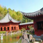 鹿児島県いちき串木野市の冠岳にある冠獄園には中国風庭園が広がっていた。