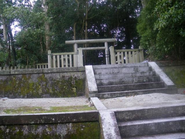 新田神社と可愛山陵で御朱印を頂く。