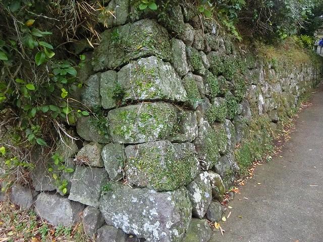 天昌寺跡の石垣の道を進みます。