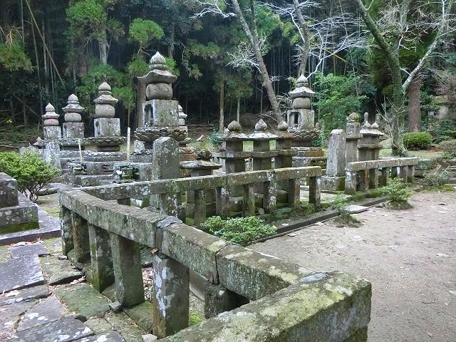 天昌寺跡にある永吉島津家の墓。