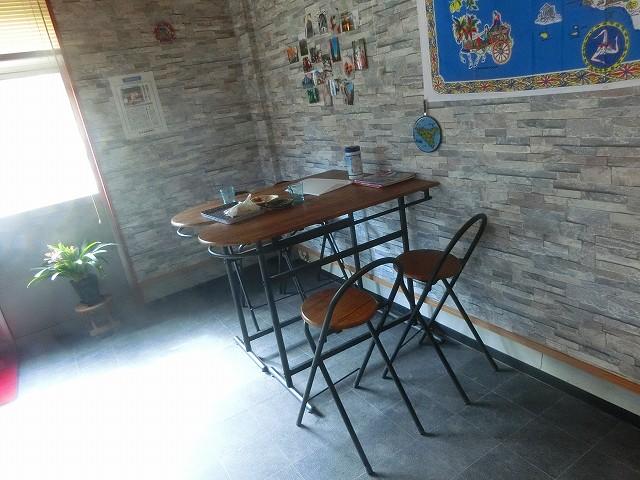 ガンビーノ・ピッザリアのテーブル席