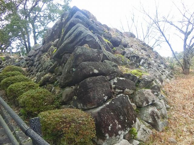 松尾城(栗野城)の石垣を見てきました。