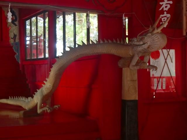 勝栗神社には龍が祀られます。