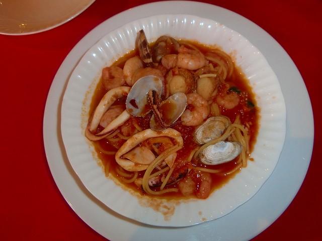 阿久根の新鮮魚介類のペスカトーレです。