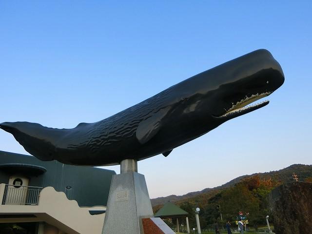 くじらの眠る丘のクジラモニュメント
