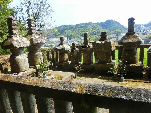 初代島津用久公と夫人の墓があります。