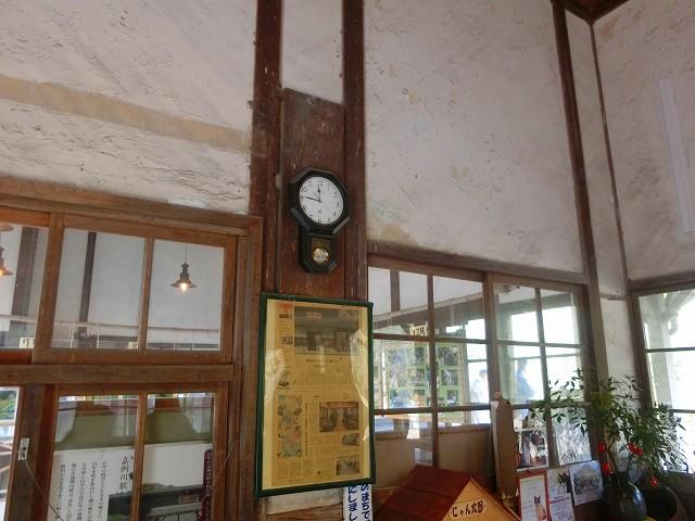 嘉例川駅の改札口、現在は無人駅です。