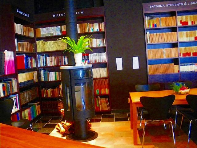 西洋書斎をイメージしたライブラリー。