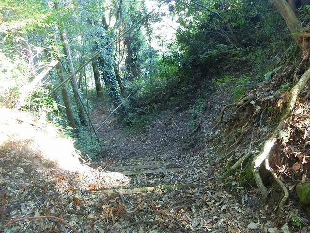 鶴丸城の空堀の跡と思われる場所です。