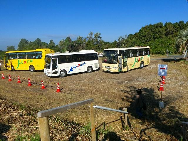 駐車場から千本イチョウまでバスが送迎。