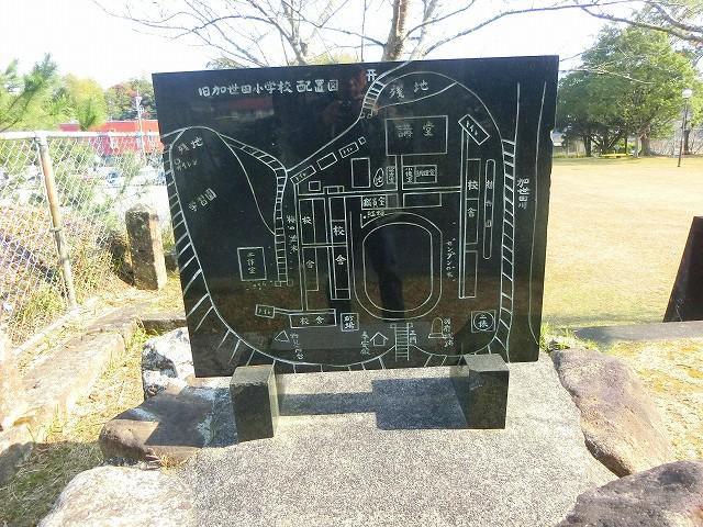 別府城跡は加世田小学校になりました。