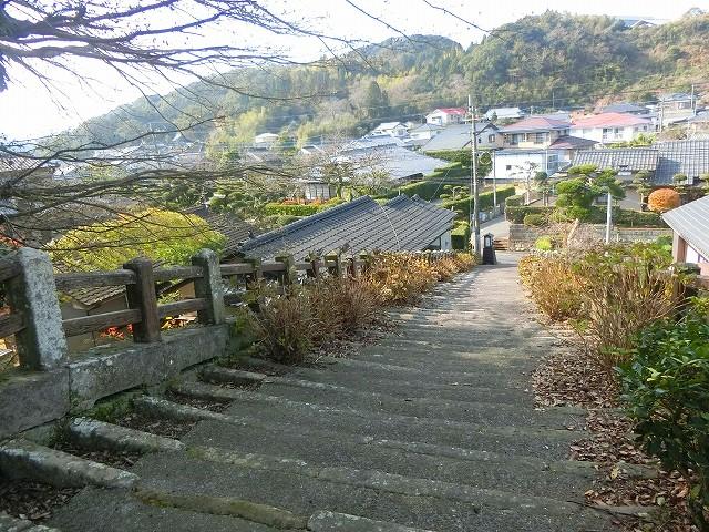 別府城跡から加世田麓の町並を見ました。