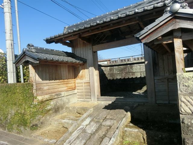 蒲生麓には武家門が多数残っています。