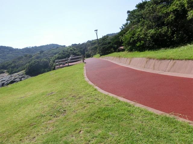 火之神公園内には散歩道があります。