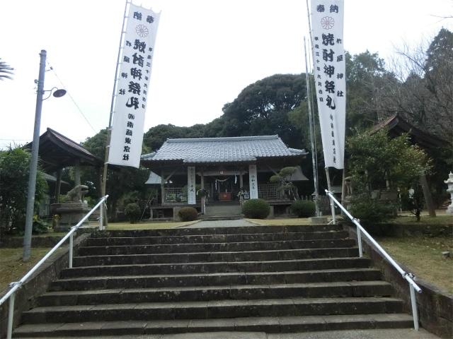 加世田宮原に鎮座する竹屋神社です。