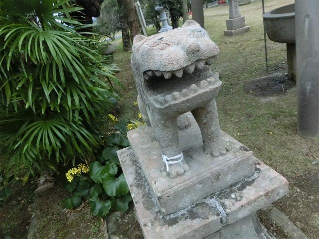 竹屋神社の狛犬はお口がデカイ!
