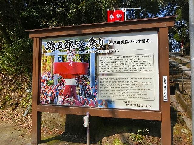 弥五郎どん祭りに現れ町をねり歩きます。