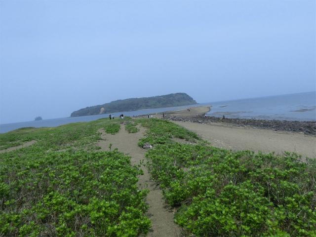 知林ヶ島への砂の道は奇跡の道です。