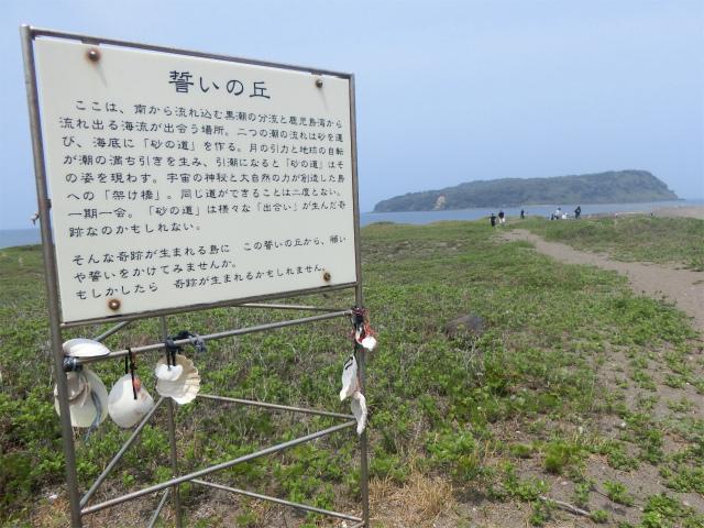 誓いの丘で奇跡の島に誓いをたてました。