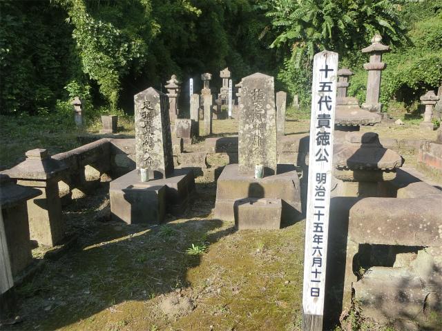 垂水島津家の歴代領主の墓が並びます。