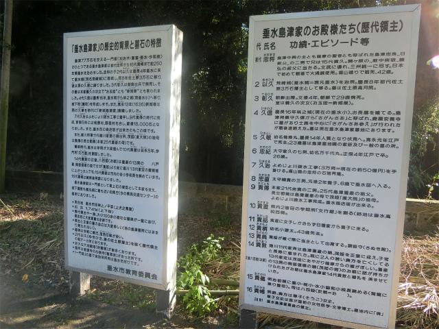 垂水島津家墓所の解説がありました。