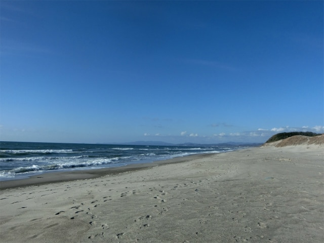 吹上浜の海岸線を見るのもいいかも