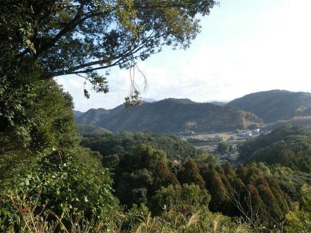 南郷城本丸から永吉麓の町並も見えました。