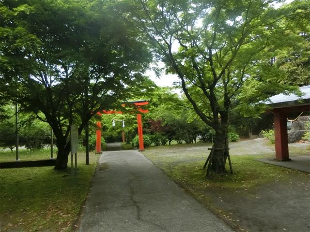 大野嶽神社の境内は何だか神秘的です。