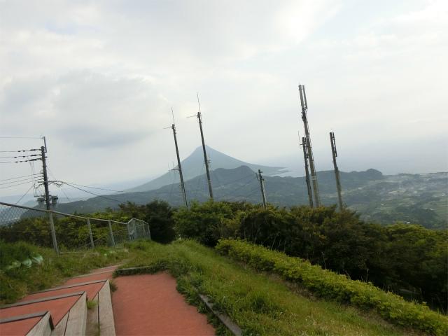 薩摩富士と呼ばれる開聞岳が見えます。