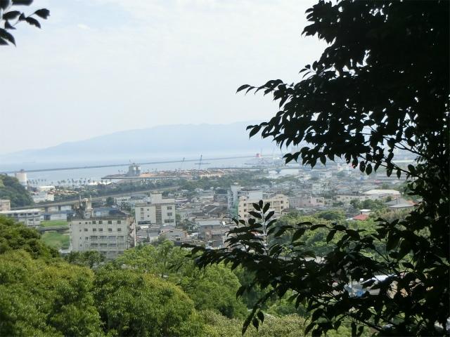 志布志内城の本丸からの眺めです。