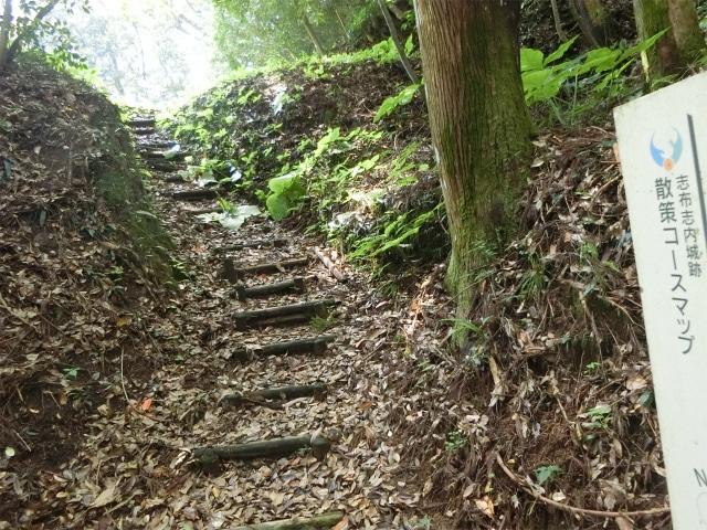 内城本丸へ登る階段です。