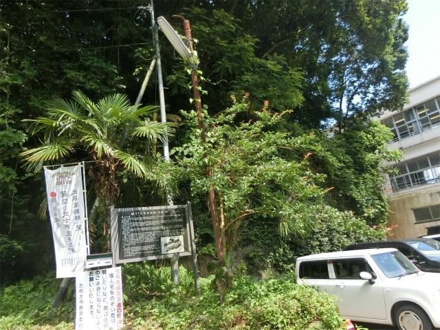 内城入口は志布志小学校の裏口です。
