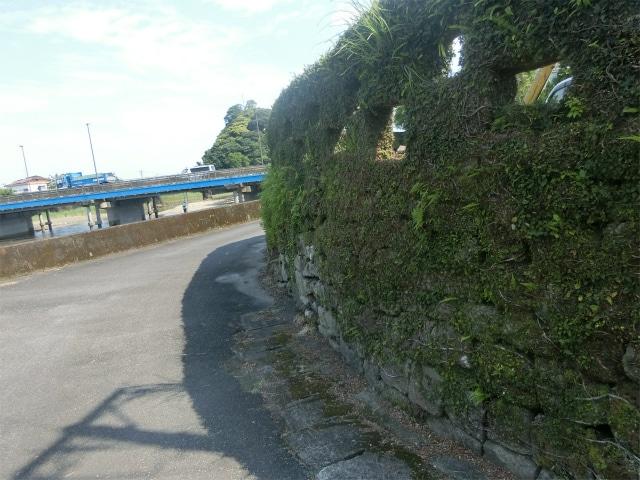 津口番所跡の独特な石壁