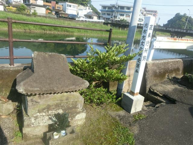 志布志津の前川沿いにある蔵奉行所跡