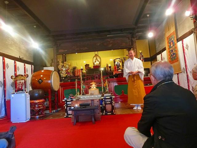 泰平寺の住職にお話を頂きました。